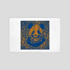 Bluish Yellow Panda 4' x 6' Rug