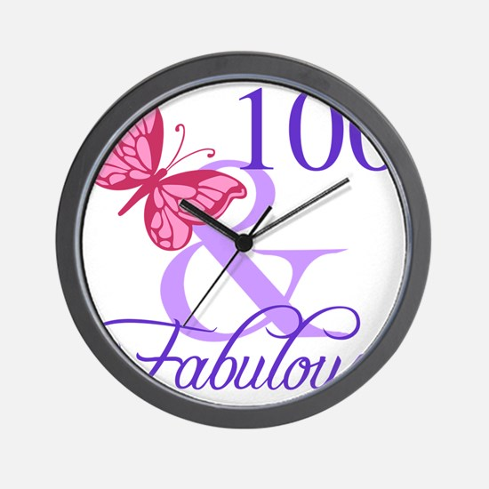 Fabulous 100th Birthday Wall Clock