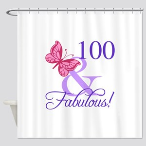 Fabulous 100th Birthday Shower Curtain