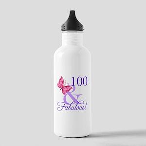 Fabulous 100th Birthda Stainless Water Bottle 1.0L