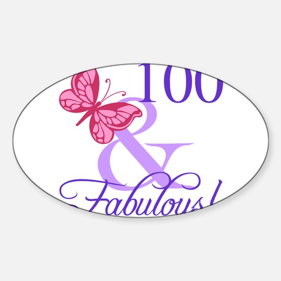 Fabulous 100th Birthday Decal
