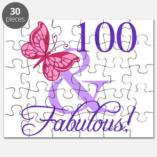 Fabulous 100th Birthday Puzzle