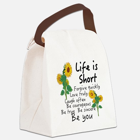 Cute Sincere Canvas Lunch Bag