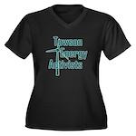 TEA Women's Plus Size V-Neck Dark T-Shirt