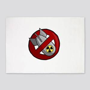 No nuclear weapons 5'x7'Area Rug