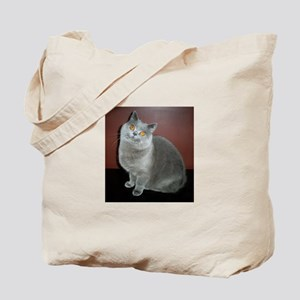 blue British Shorthair cat Tote Bag