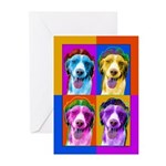 Brittany Spaniel dog Greeting Cards (Pk of 10)