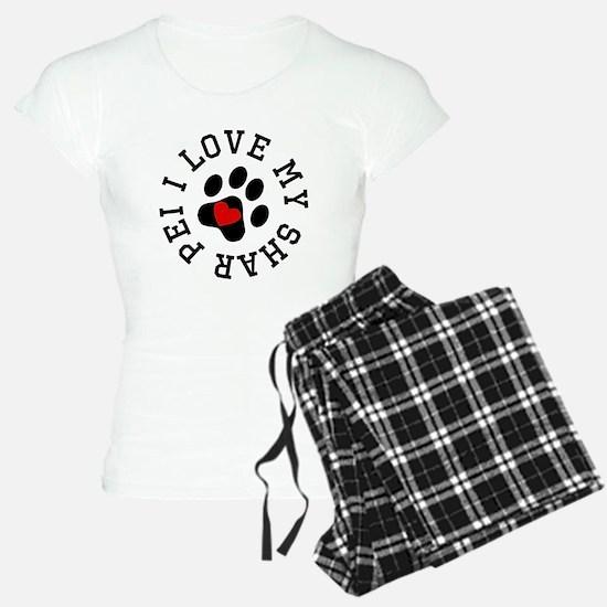 I Love My Shar Pei Pajamas