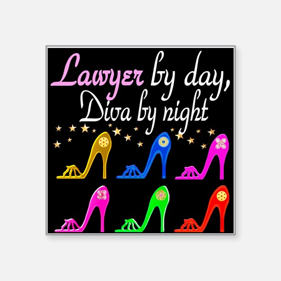 "LAWYER SHOE QUEEN Square Sticker 3"" x 3"""