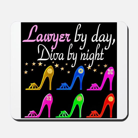 LAWYER SHOE QUEEN Mousepad