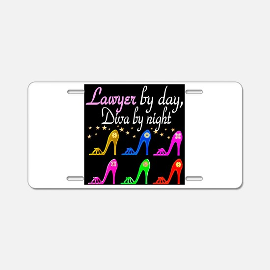 LAWYER SHOE QUEEN Aluminum License Plate