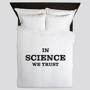 In Science We Trust Queen Duvet