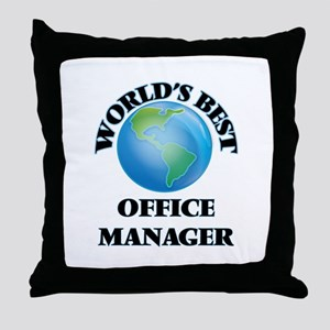 World's Best Office Manager Throw Pillow
