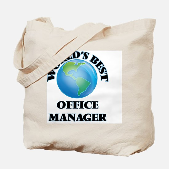 World's Best Office Manager Tote Bag