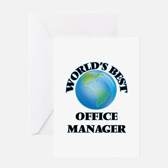 World's Best Office Manager Greeting Cards