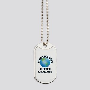 World's Best Office Manager Dog Tags