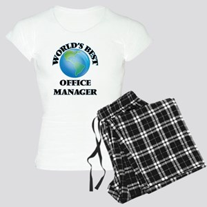 World's Best Office Manager Women's Light Pajamas
