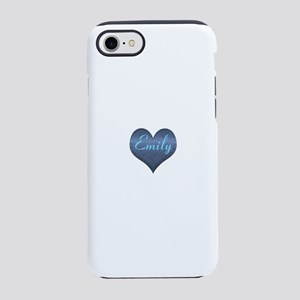 Big Blue Denim Heart Name iPhone 7 Tough Case