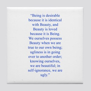 Being is desirable because it is identical with Be