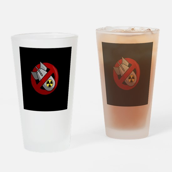 No nuclear weapons Drinking Glass