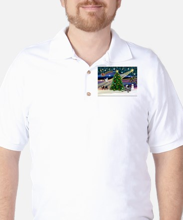 Xmas Magic /Aussie Cattle Golf Shirt