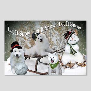 American Eskimo Let It Snow Christmas Cards Postca