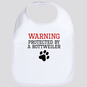 Protected By A Rottweiler Bib