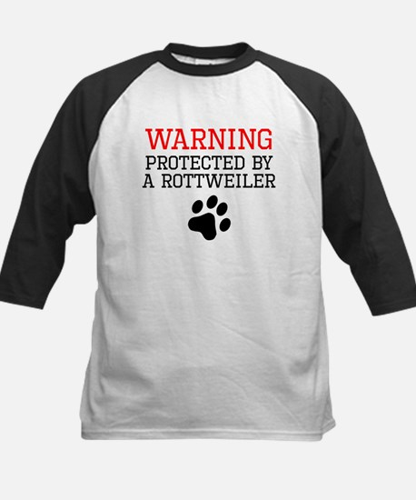 Protected By A Rottweiler Baseball Jersey