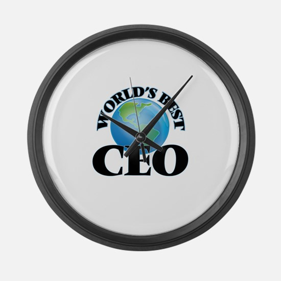 World's Best Ceo Large Wall Clock