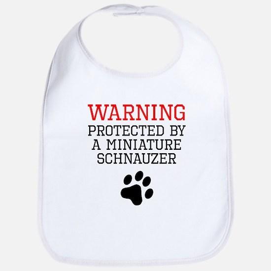 Protected By A Miniature Schnauzer Bib