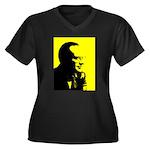 Rothbardian Women's Plus Size V-Neck Dark T-Shirt