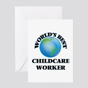 World's Best Childcare Worker Greeting Cards