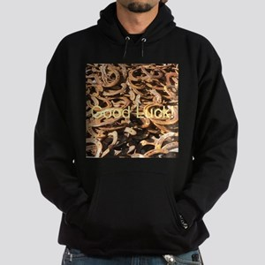 Good Luck,Horseshoes-YOUR TEXT Hoodie