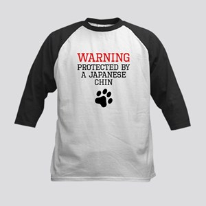 Protected By A Japanese Chin Baseball Jersey