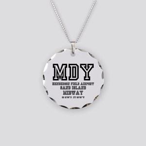 AIRPORT CODES - MDY - SAND I Necklace Circle Charm
