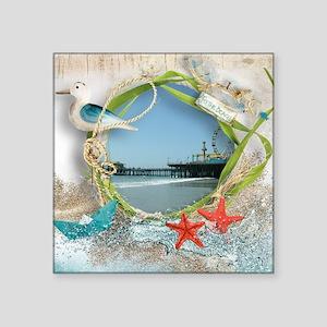 Pier Beach Collage Sticker