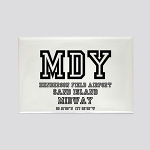 AIRPORT CODES - MDY - SAND ISLAND, MIDWAY Magnets