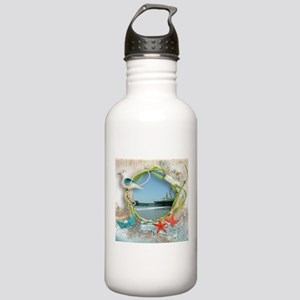 Pier Beach Collage Stainless Water Bottle 1.0L