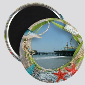 Pier Beach Collage Magnets