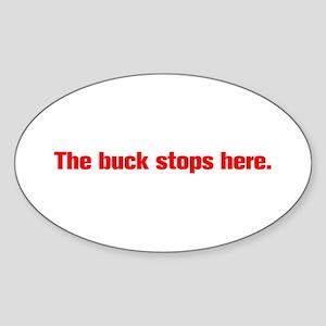 The buck stops here Sticker
