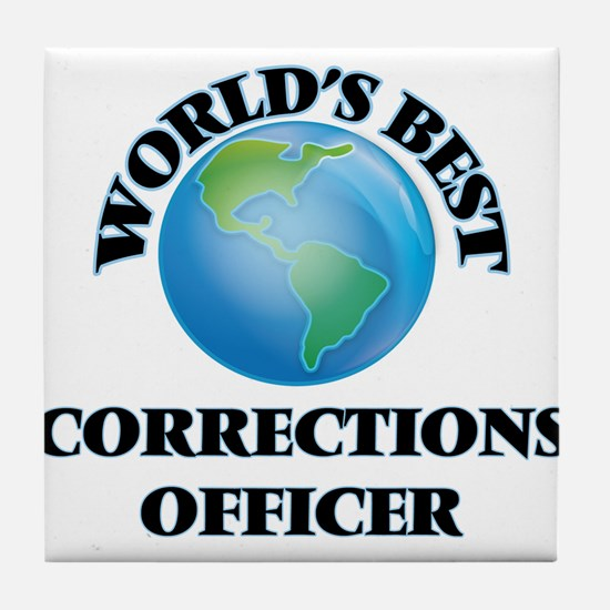 World's Best Corrections Officer Tile Coaster
