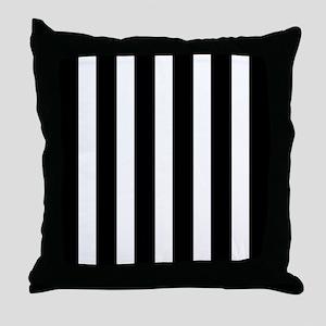 Black And White Vertical Stripes Throw Pillow