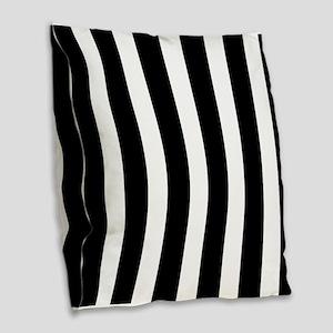 Black And White Vertical Stripes Burlap Throw Pill
