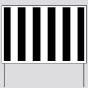 Black And White Vertical Stripes Yard Sign