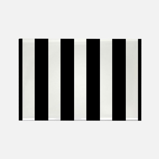 Black And White Vertical Stripes Magnets