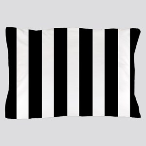Black And White Vertical Stripes Pillow Case