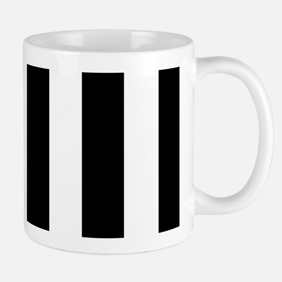 Black And White Vertical Stripes Mugs