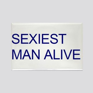 Sexiest Man Alive Rectangle Magnet