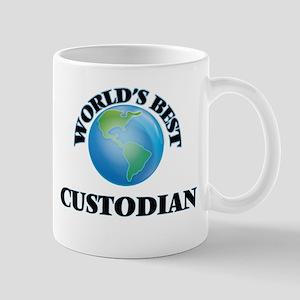 World's Best Custodian Mugs
