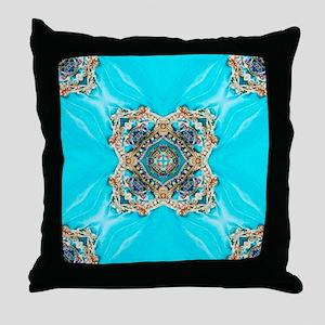 colourful bold bohemian pattern  Throw Pillow